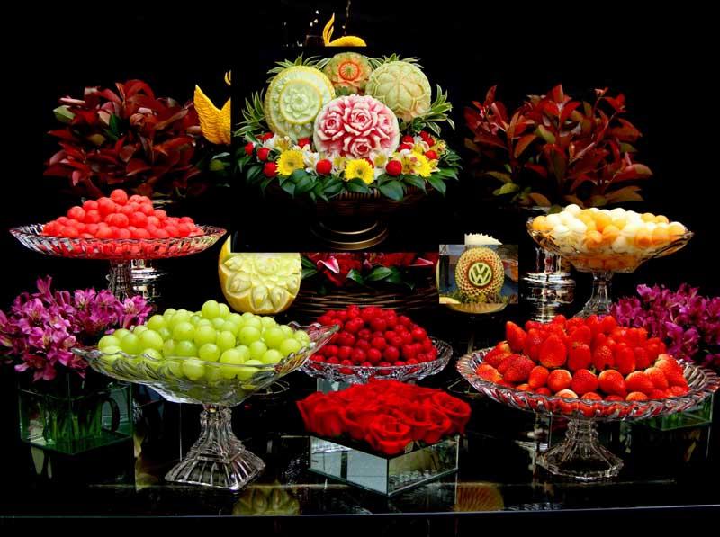 Mesa de frutas tahuti - Adornos de frutas para mesas ...
